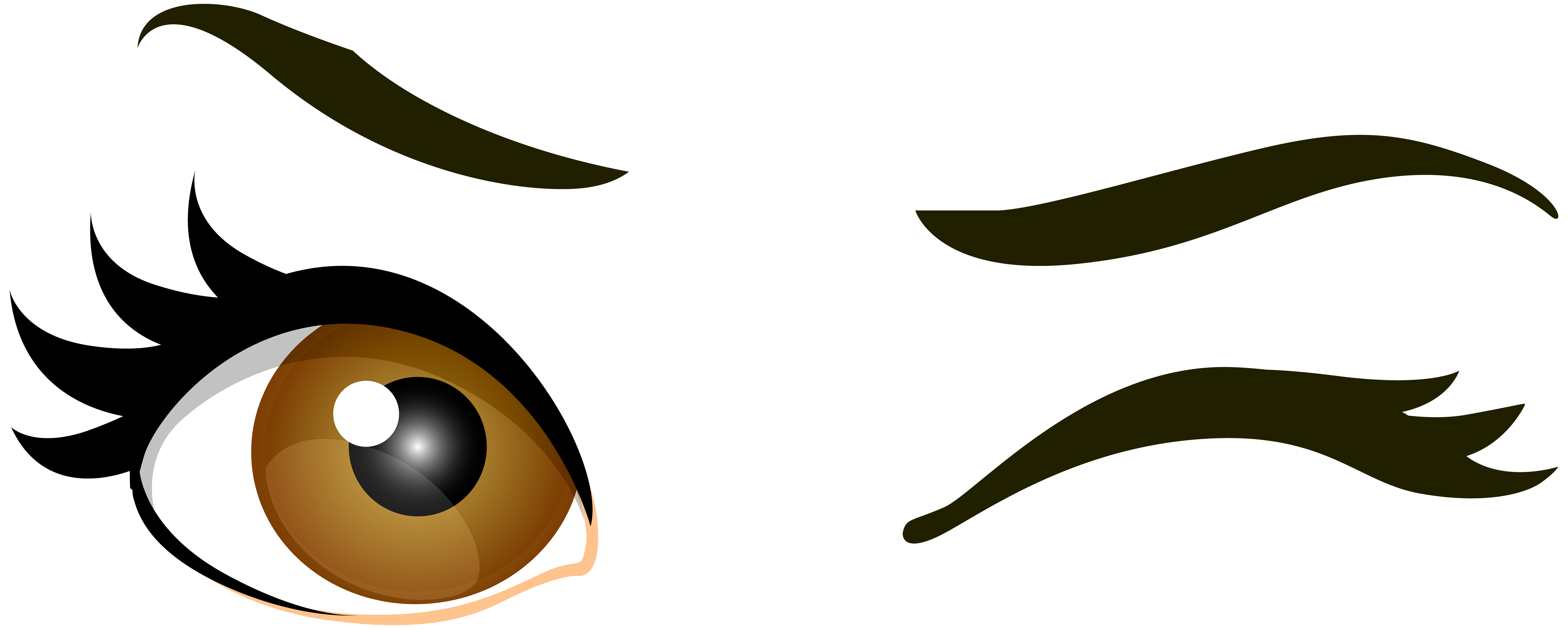 picture transparent stock Brown Winking Eyes PNG Clip Art