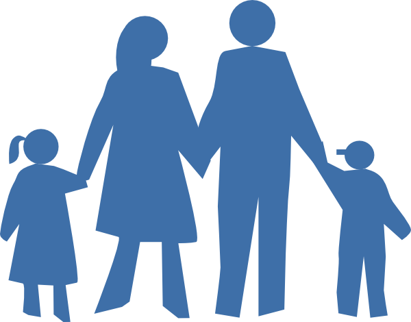 jpg stock People clipart. Family silhouette at getdrawings