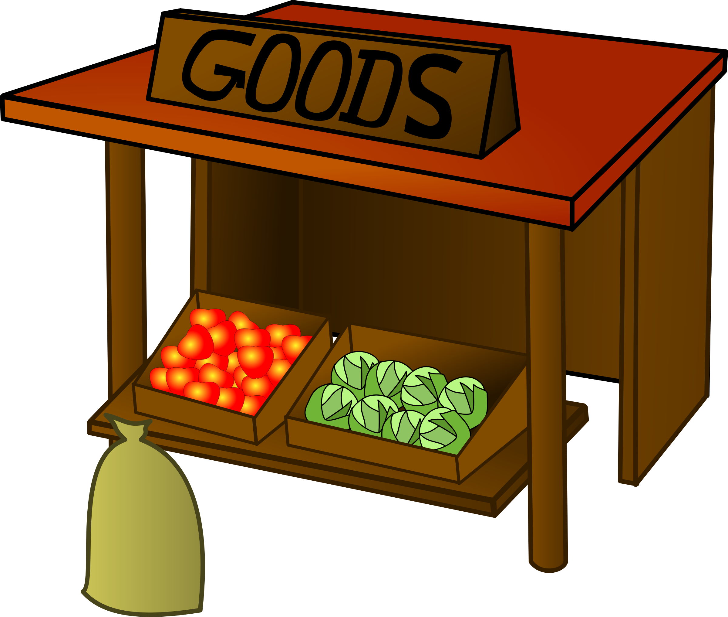 graphic free stock Supermarket clipart stall. Marketplace market farmers clip