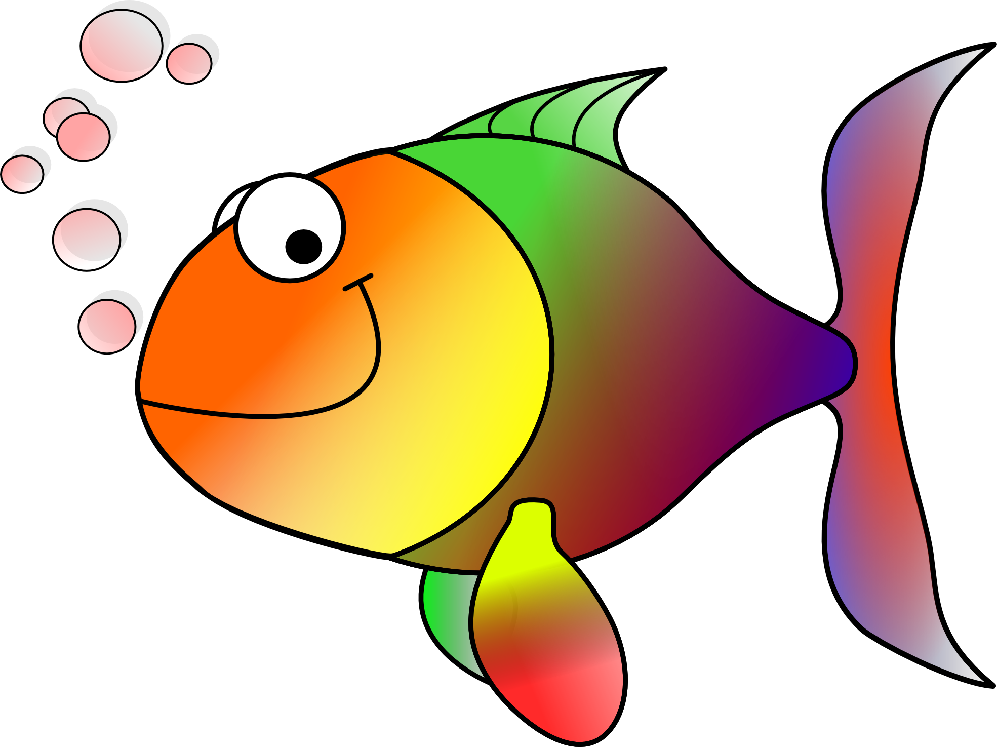 vector transparent library . Fish clipart
