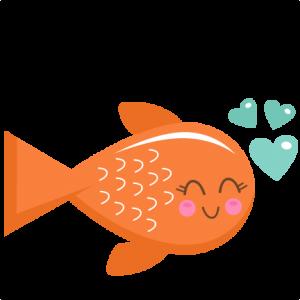 clipart black and white Goldfish clipart clip art. Valentine fish svg scrapbook