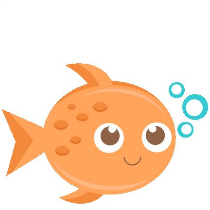 clip art transparent Fish svg scrapbook cut. Goldfish snack clipart