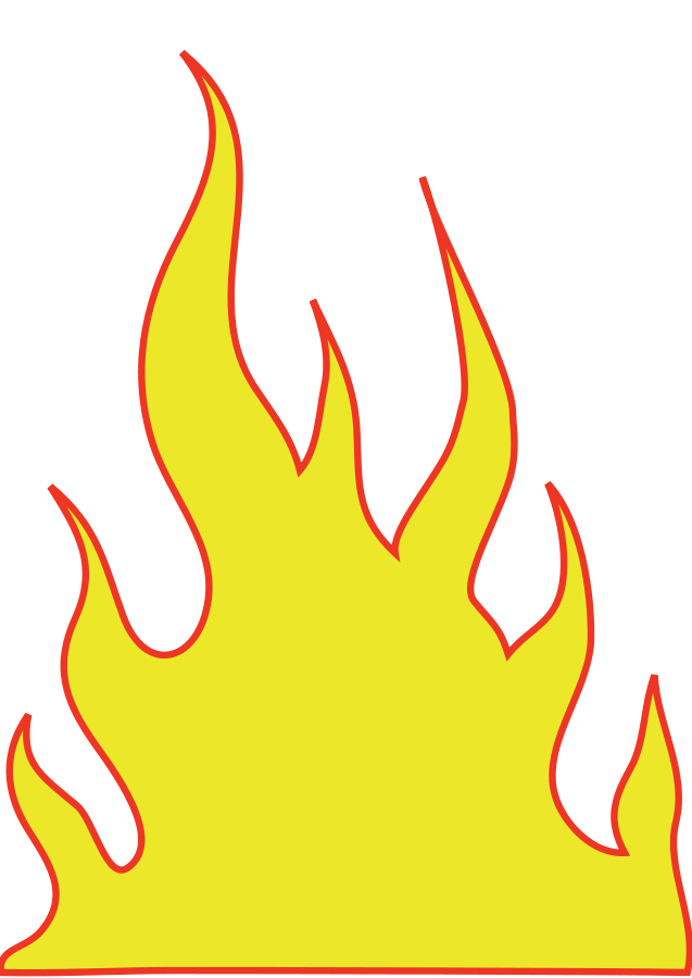 jpg black and white Flames clipart. Panda free images info