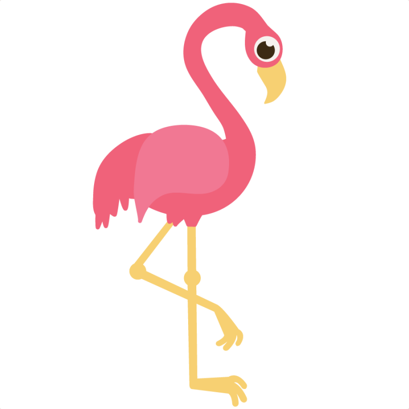 clip black and white download Large Flamingo Clipart