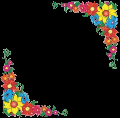banner transparent download Download flowers borders free. Clipart flower border