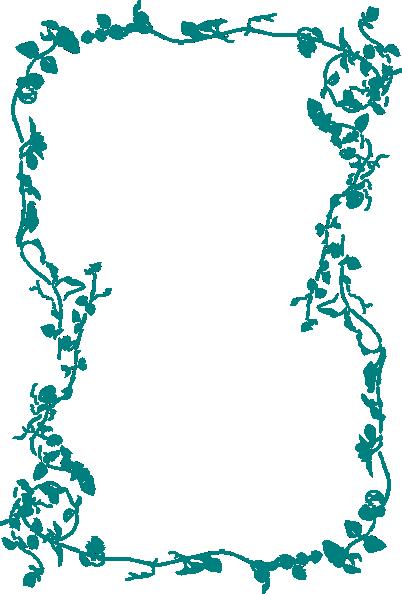 jpg Clipart flower border. Blue clip art at