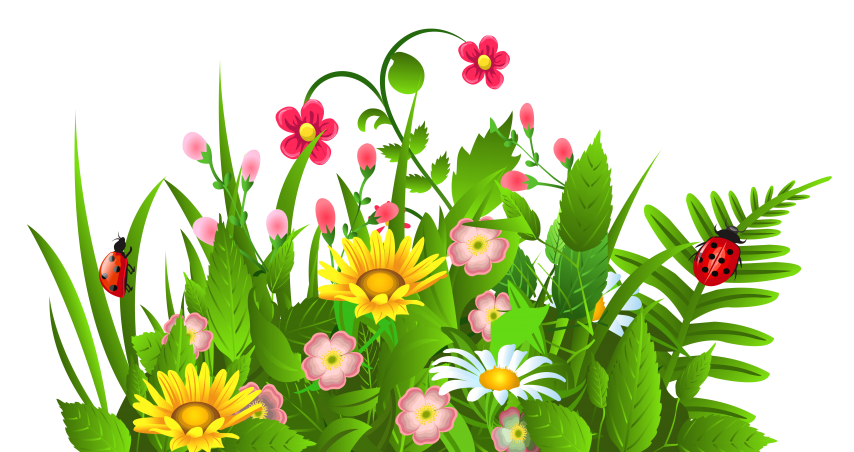 svg black and white library Flowers clipart. Border spring .
