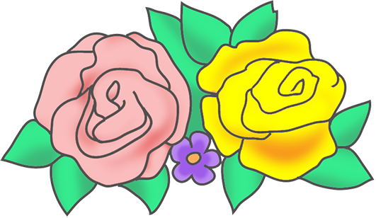 png free library Blossom clipart rose. Free flower drawings two.