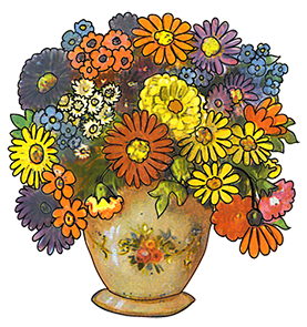 image library Free flower freeflowerclipartbouquetinvasepng. Cat clipart floral.