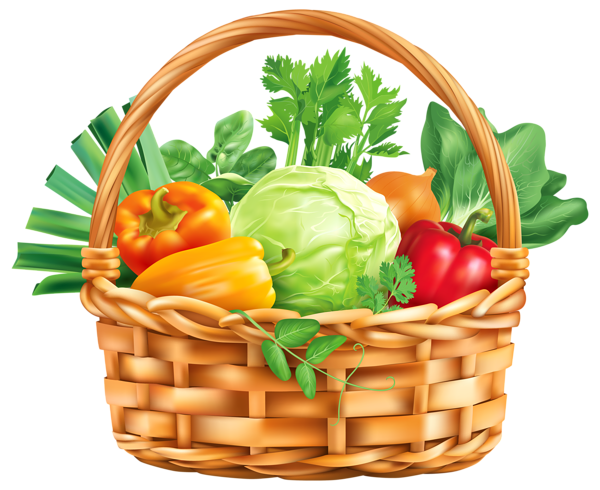 picture royalty free library Vegitable Basket PNG Clipart Image