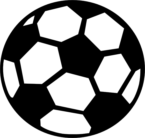 jpg black and white download Football ball silhouette at. Sport balls clipart black and white