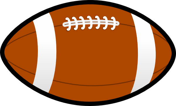 jpg black and white library Ball Football clip art