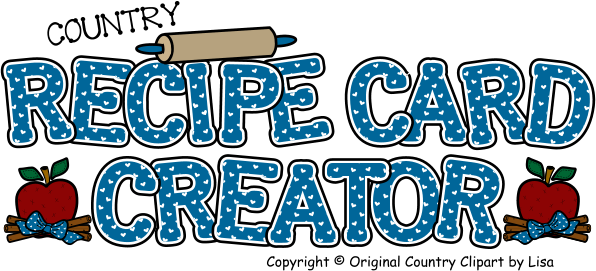 clipart black and white download Recipe Card Creator