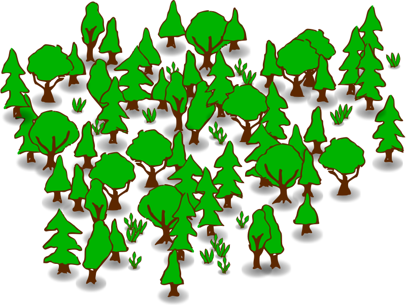 svg library Clip art forest . Animals clipart plant.