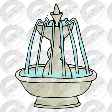 graphic library stock Picture for classroom therapy. Clipart fountain