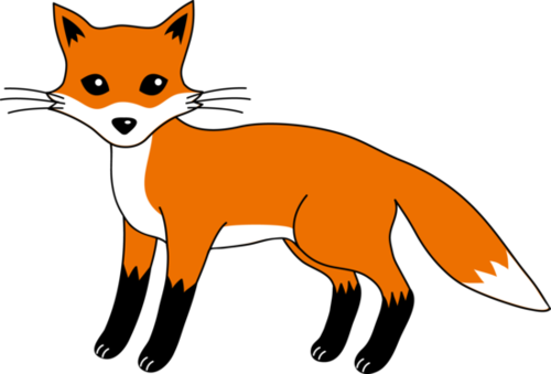 clipart black and white stock . Fox clipart