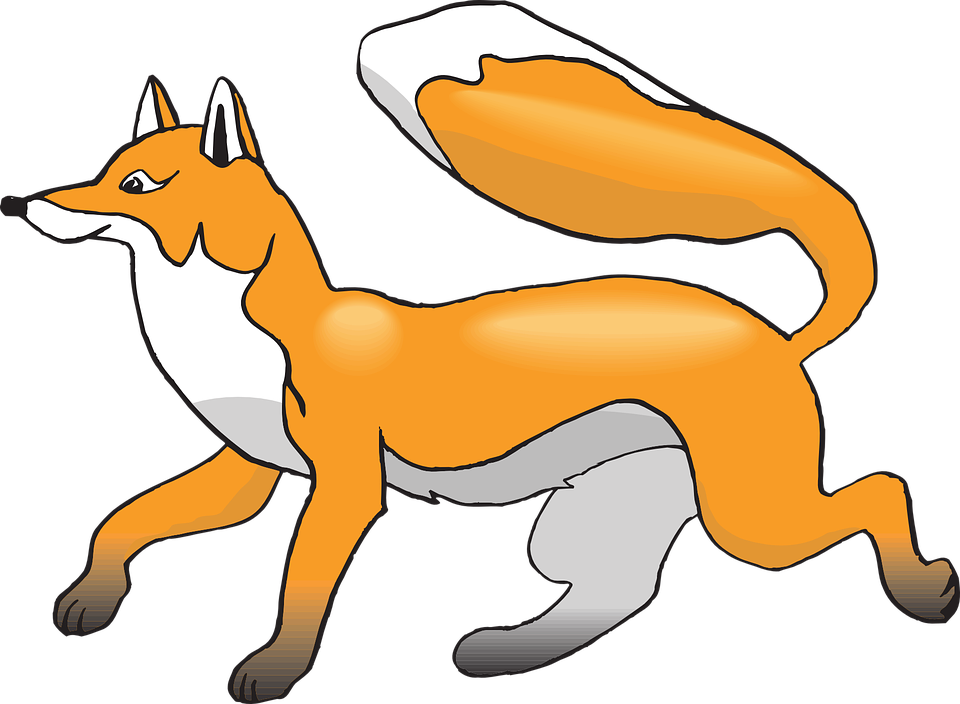 clip Fox clipart. White tailed pencil and