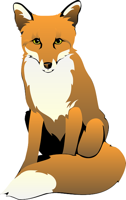 jpg free stock Cute free images logo. Fox clipart.
