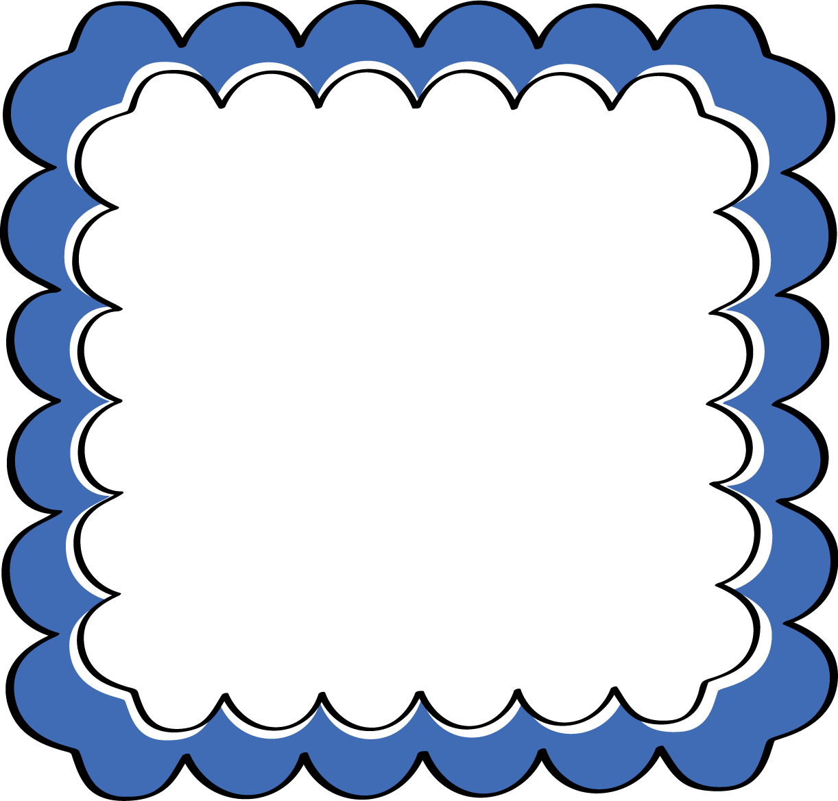 picture black and white library Blue Frame Clipart