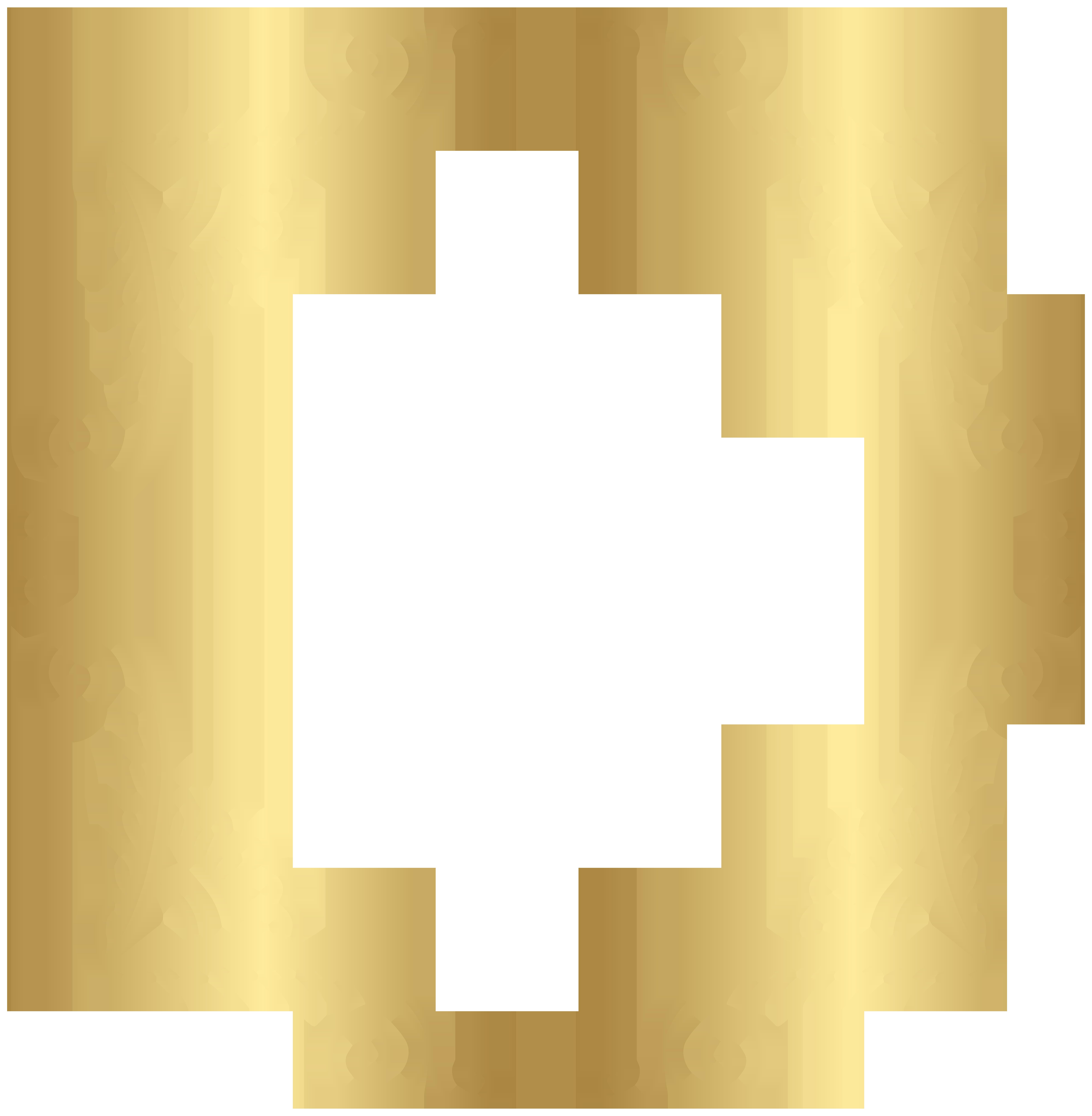 clip freeuse library Border frame png clip. Golden clipart