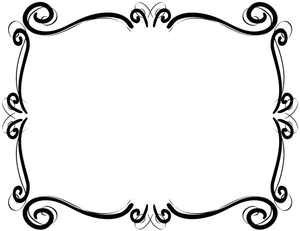 jpg black and white Clipart frames and borders. Scrollwork free images at