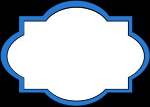 graphic download Blue Frame Label Clip Art at Clker