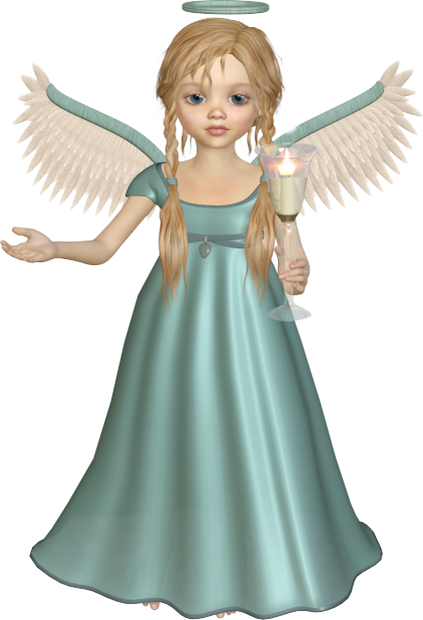 black and white download Angel with Candle Free PNG Clipart Picture
