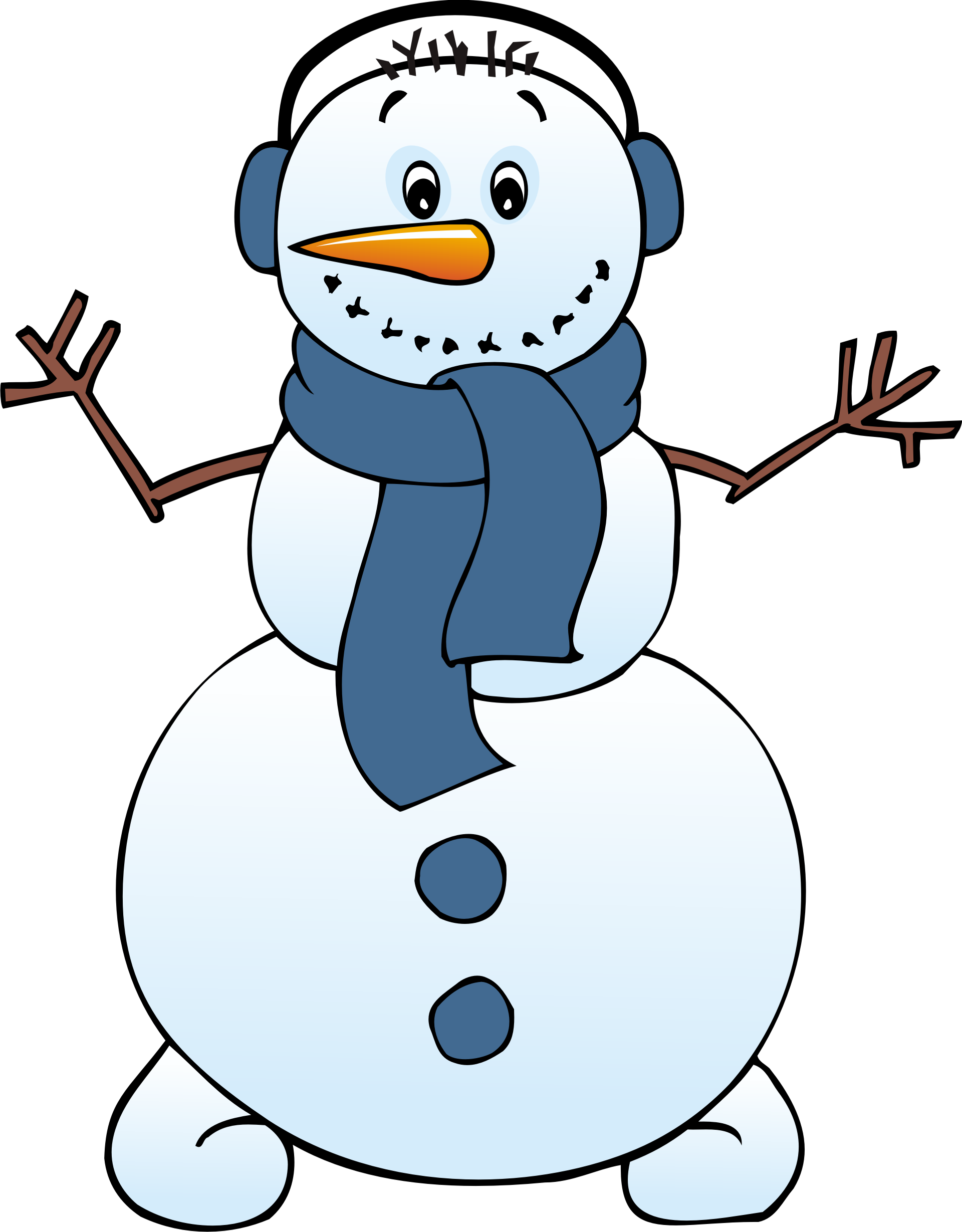 royalty free library Cute Snowman Clip Art