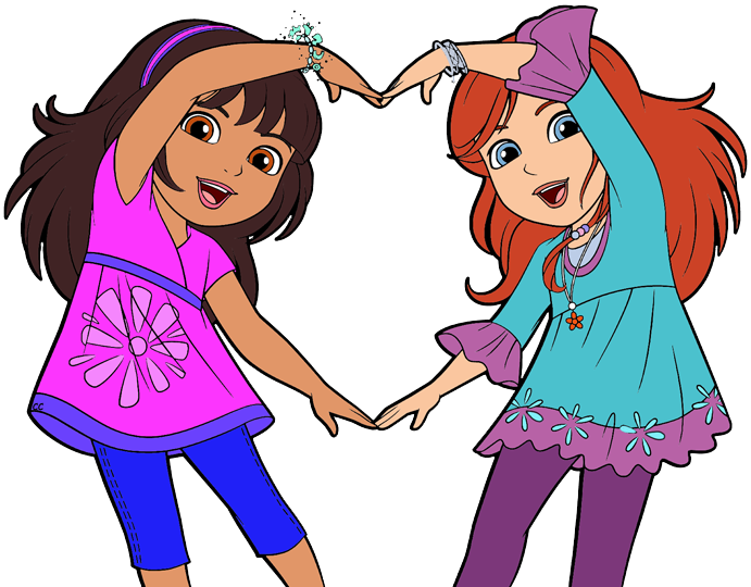 clip free library Dora and cartoon clip. Friends clipart free
