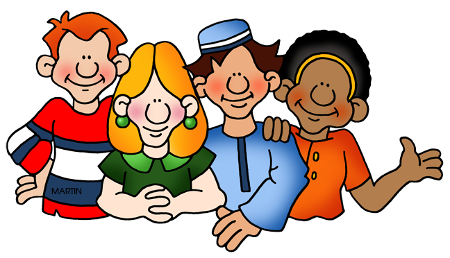 jpg freeuse download Family and friends clip. Group clipart friendship
