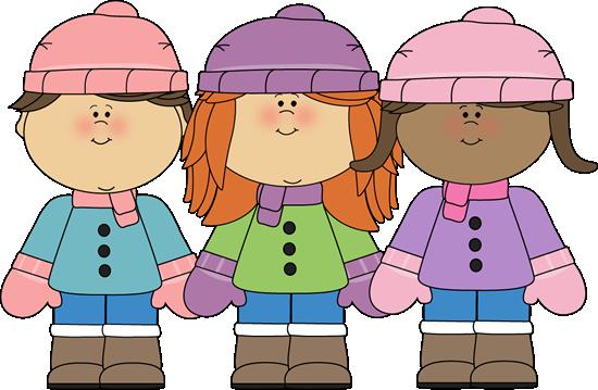 clipart transparent stock Clip art girl friends. Winter clipart for kids