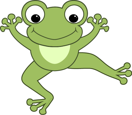 clip art black and white library Dancing Frog Clipart