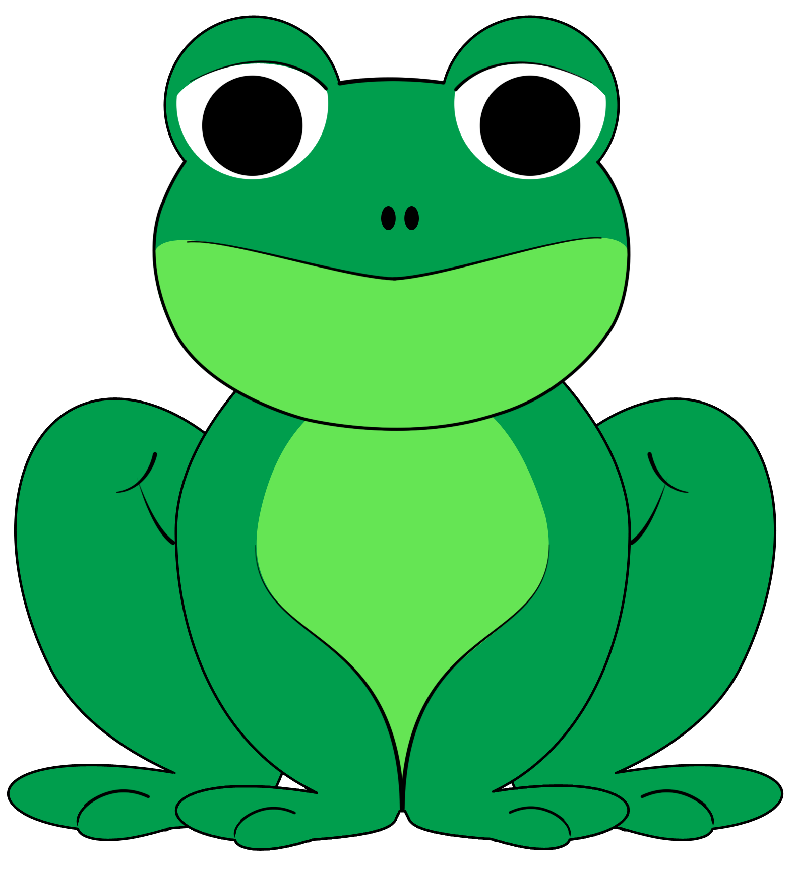 banner library stock Frog clipart