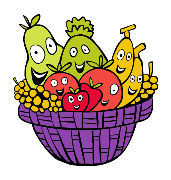 graphic transparent download basket of fruit clipart #57777418