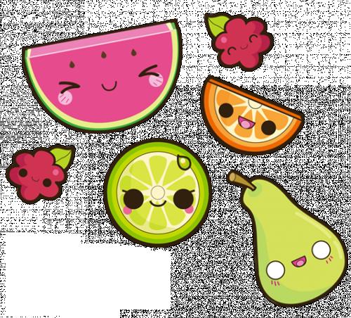 clipart transparent stock Kawaii clipart technology. Fruits via tumblr food