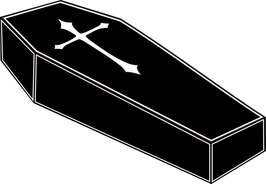 graphic transparent stock Clipart black and white. Vampire transparent coffin