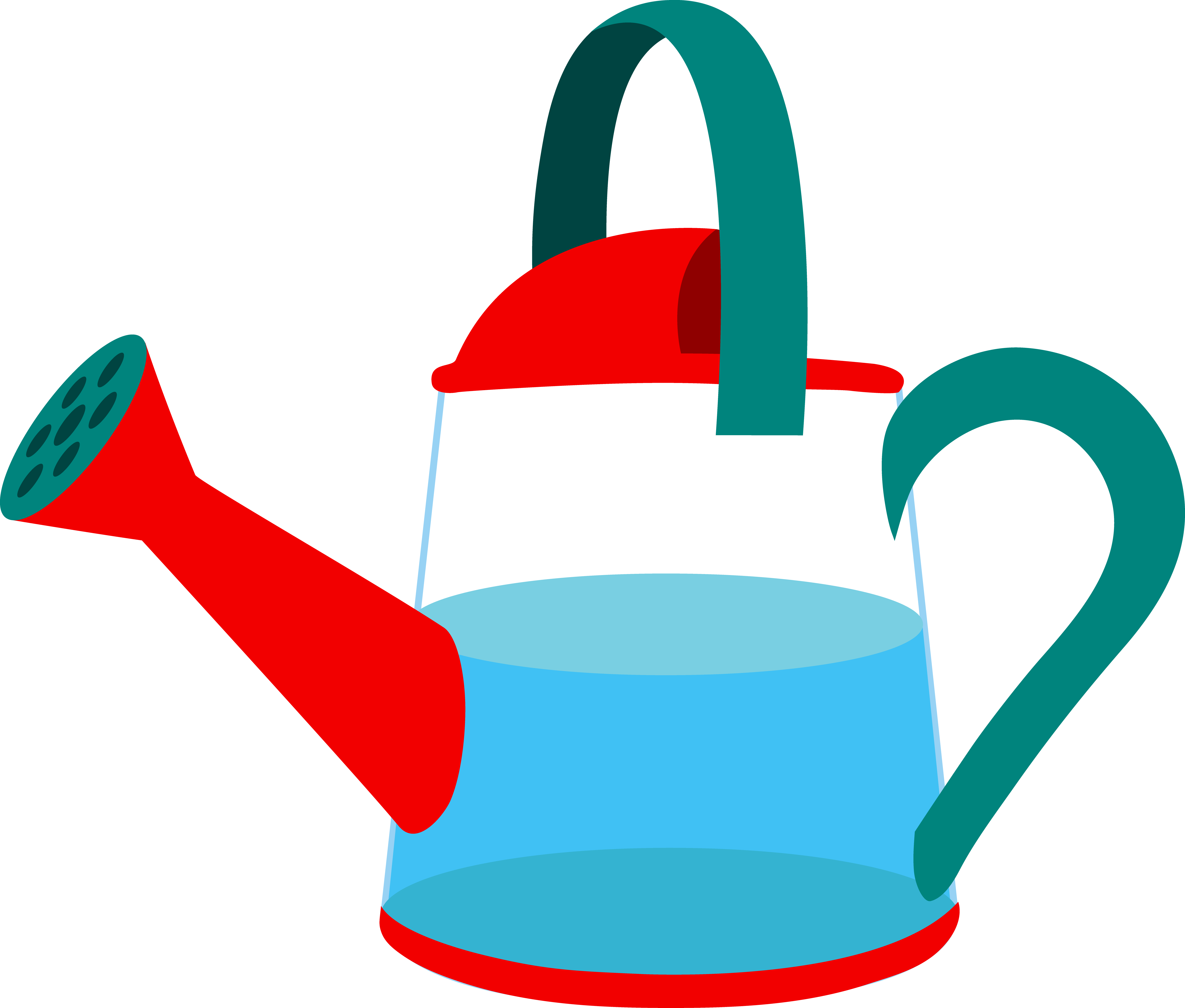 picture transparent library Half Full Watering Can