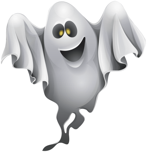 banner library stock Halloween png free images. Ghost clipart.
