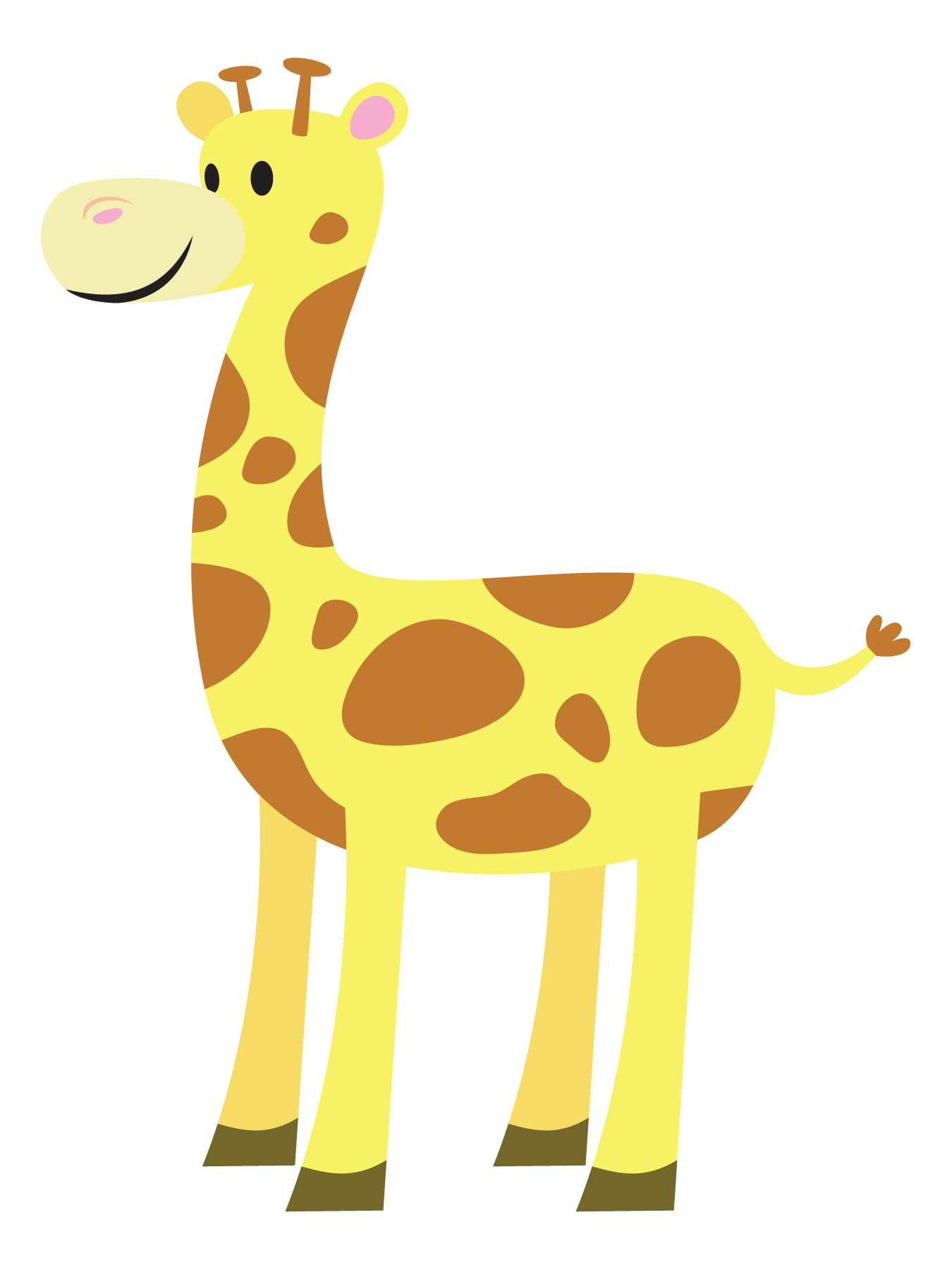 jpg free stock Giraffe clipart. Cute
