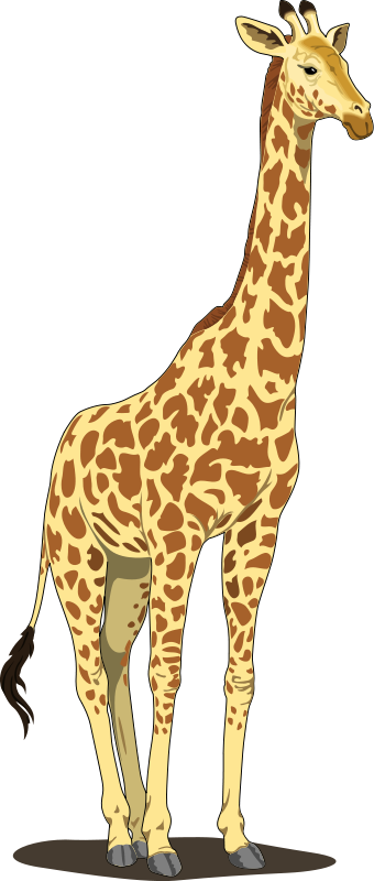 svg transparent library 4 clipart giraffe. Clip art royalty free