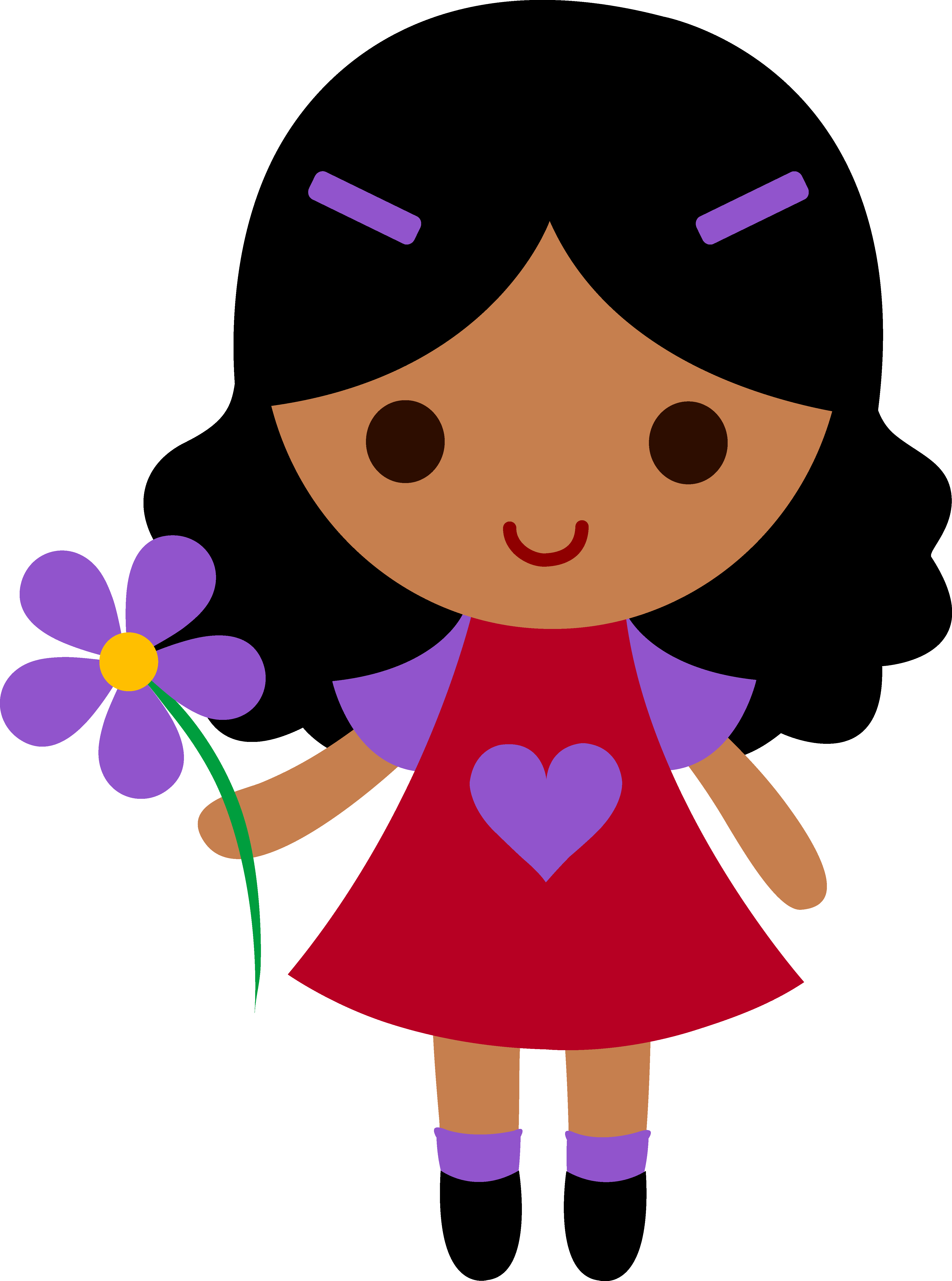 clipart freeuse download Character clipart flower. My clip art of.
