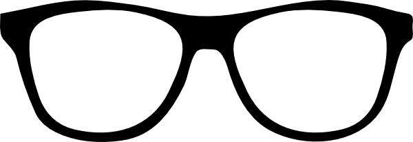 banner stock Black Glasses Clip Art at Clker