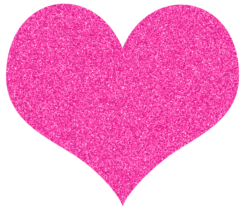 picture free Pink Hearts Glitter Clipart