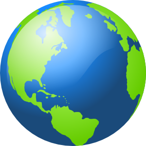 banner free Transparent Globe Clipart