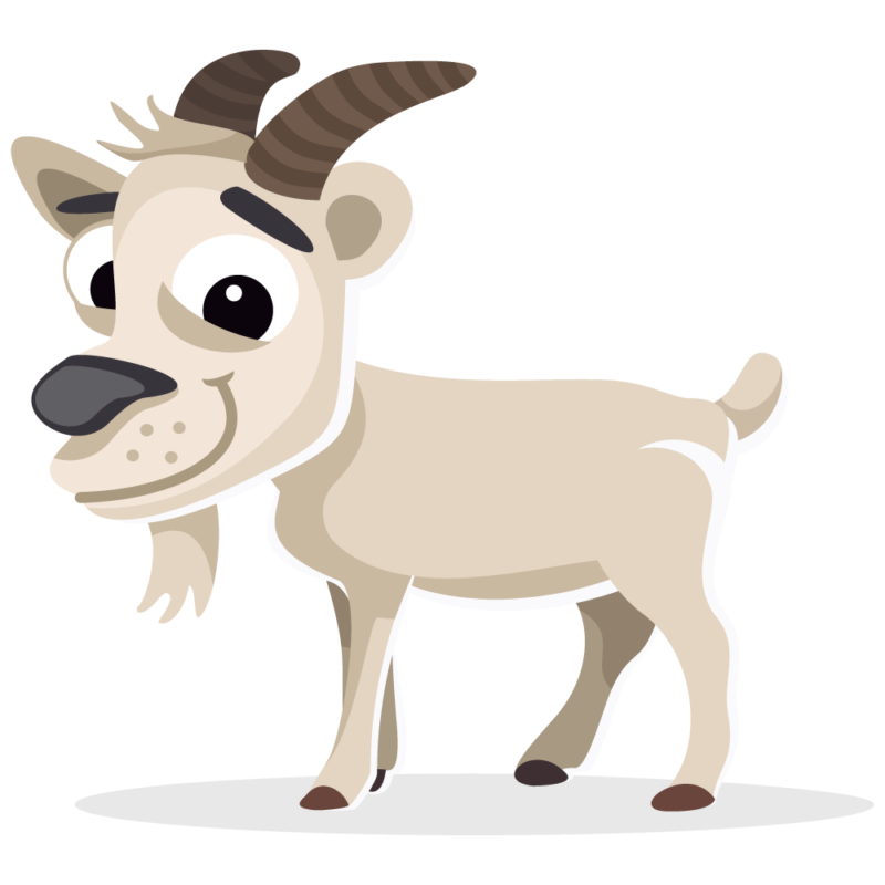 royalty free stock Mountain cute free on. Goat clipart toon
