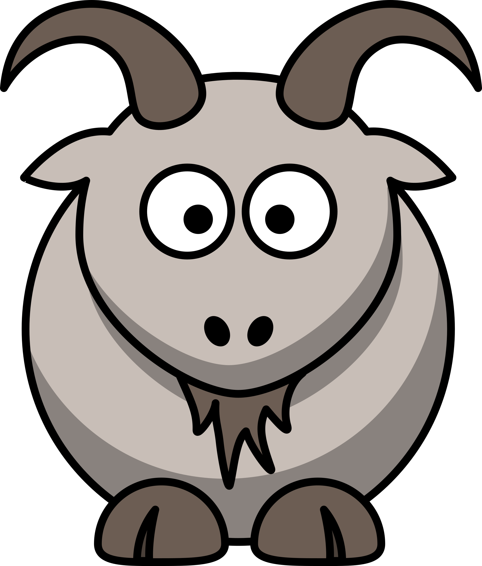 picture library library Cartoon big image png. Goat clipart eyes