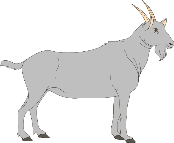 picture free stock Clip art at clker. Goat clipart gray