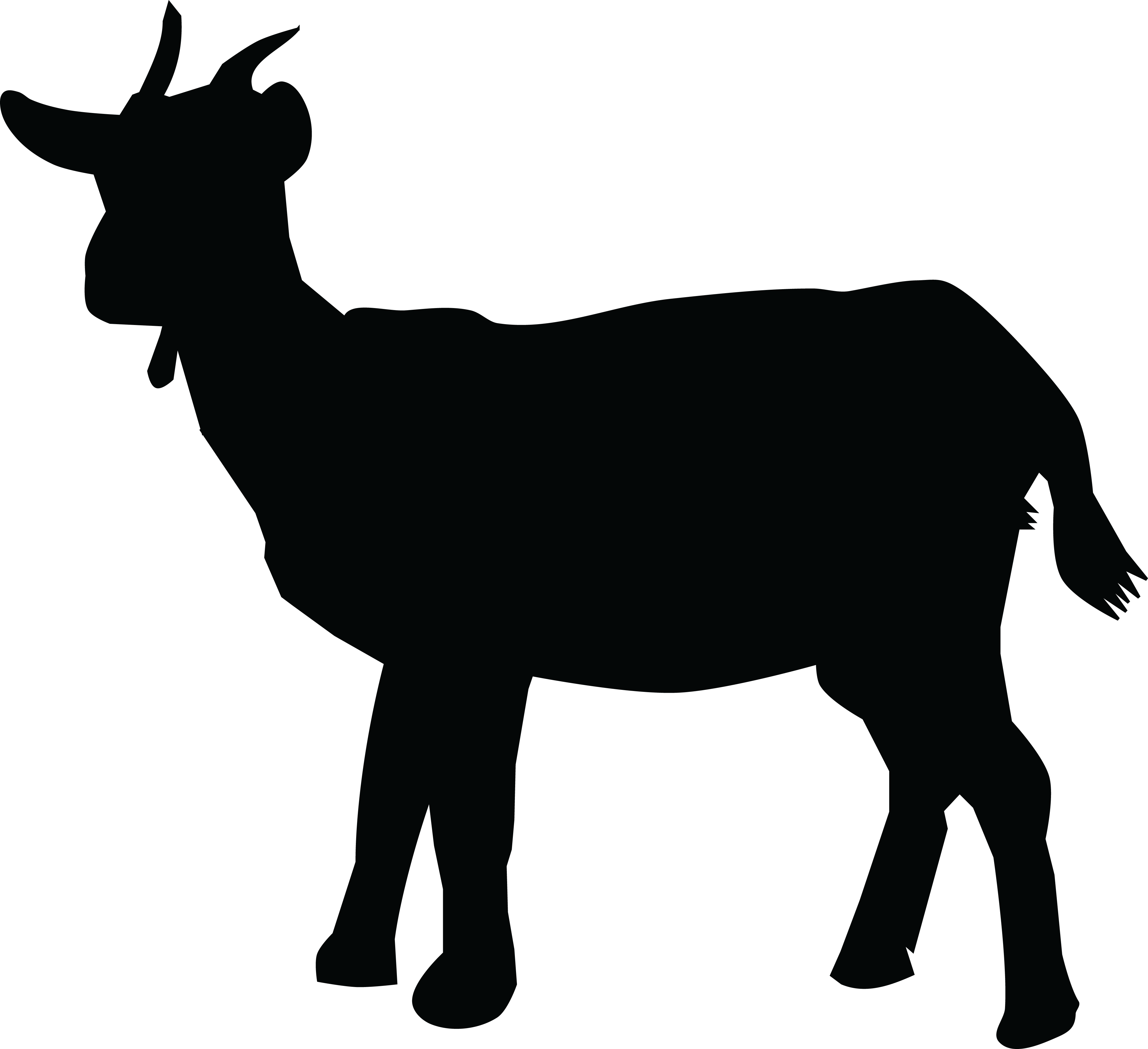 clipart transparent stock Goat clipart black and white. Dairy silhouette at getdrawings