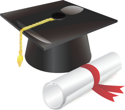 svg library Picture Of Graduation Cap And Diploma
