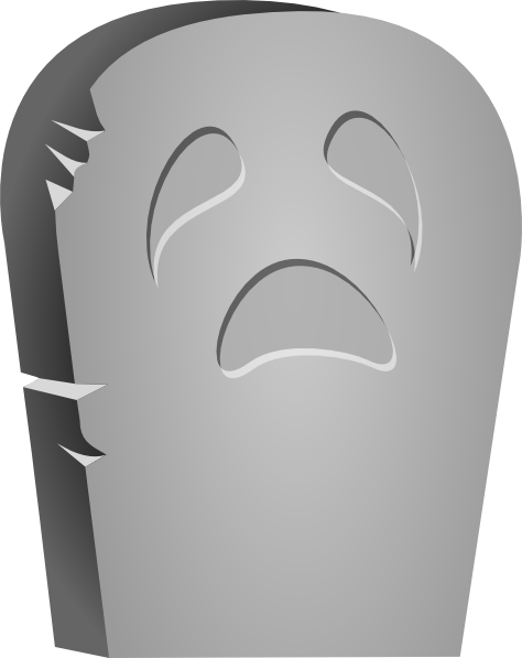 svg freeuse library Rounded Tombstone With Sad Face Clip Art at Clker